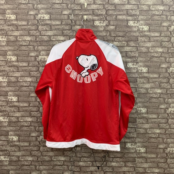 90's Peanuts Snoopy Jacket Flying Ace Red White Ca