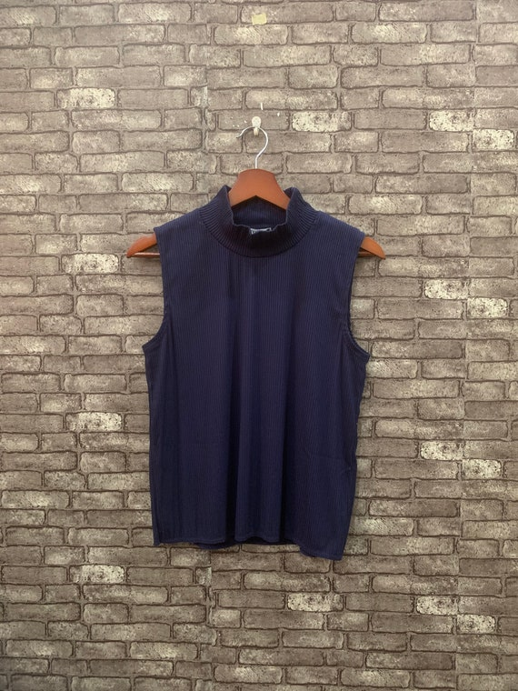 Issey Miyake Pleated Blouse Blue Issey Miyake Wome