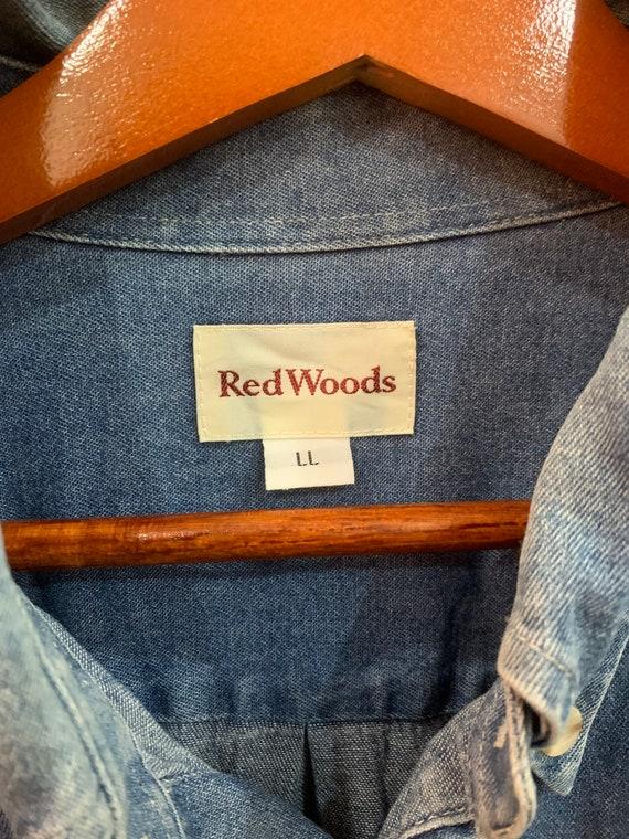 Red Woods Denim Shirt Short Sleeve Chambray Oxfords