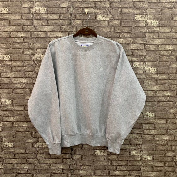 90's Champion Sweatshirt Grey Small Logo Jumper Pu