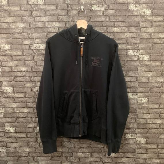 90's Nike Hoodie Sweatshirt Black Pullover Sweater