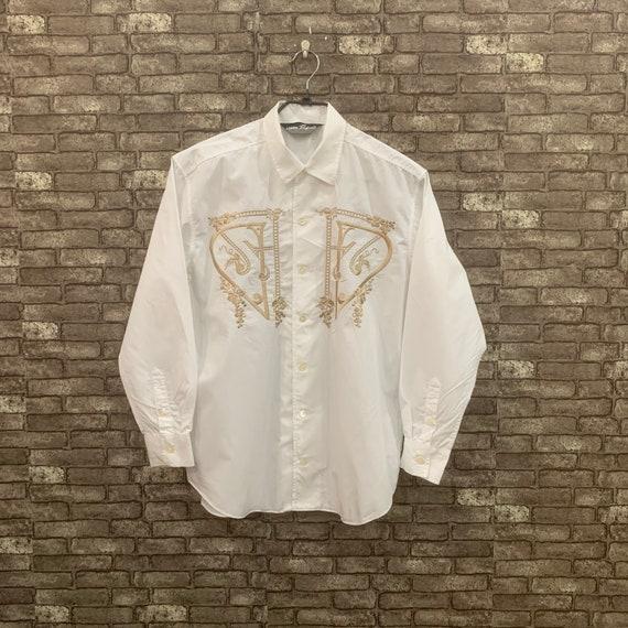 Kansai Yamamoto White Shirt Button Down Kansai O2