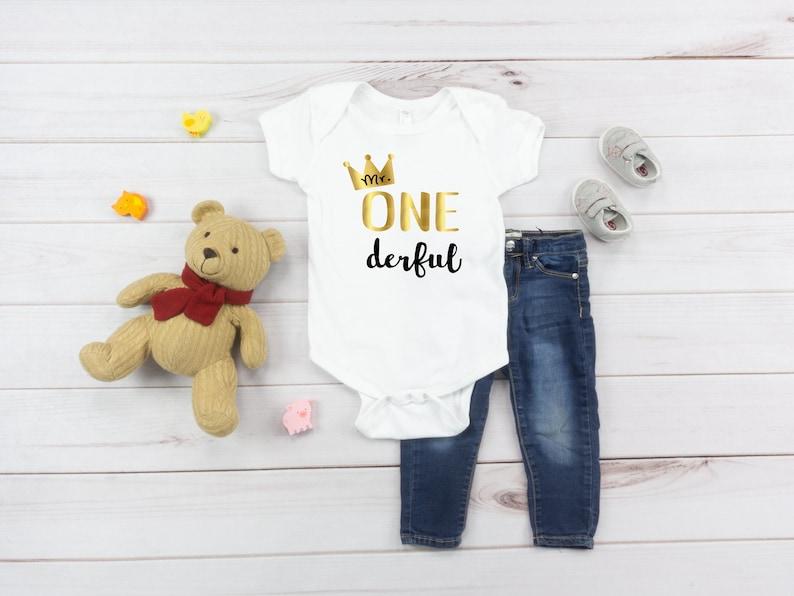 Personalized First Birthday Boy Mr Onederful Birthday Bodysuit 1st Birthday Boy Outfit Mr Onederful Birthday Onesie\u00ae Birthday Gift