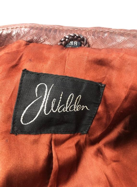 Vintage 70's J. Walden Brown Leather Blazer - image 7