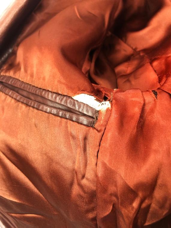 Vintage 70's J. Walden Brown Leather Blazer - image 9
