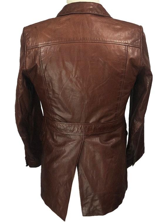 Vintage 70's J. Walden Brown Leather Blazer - image 3
