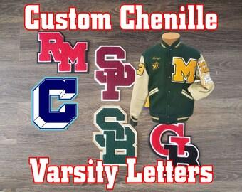 Varsity Letter Custom Chenille for Letterman Jacket-Made in USA