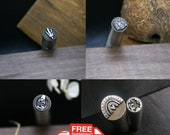 Custom Metal Design Stamp Custom Metal logo brand Stamping blank Custom gift Hard metal brand Jewelry Stamping Press stamp Stamping supplies