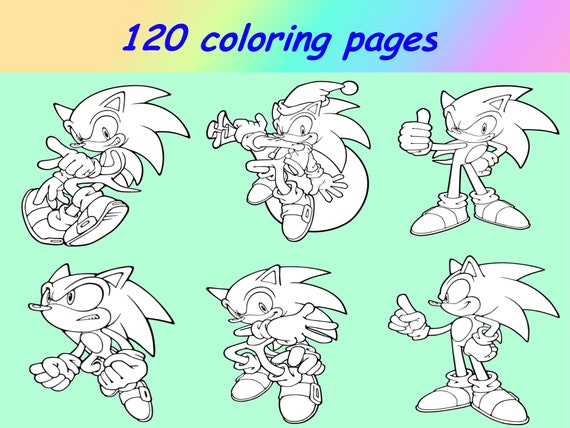 Coloring Pages Sonic PDF Sonic The Hedgehog Colouring Pages Etsy