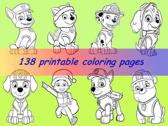 PAW PATROL Digital Coloring Book:138 IllustrationsColoring