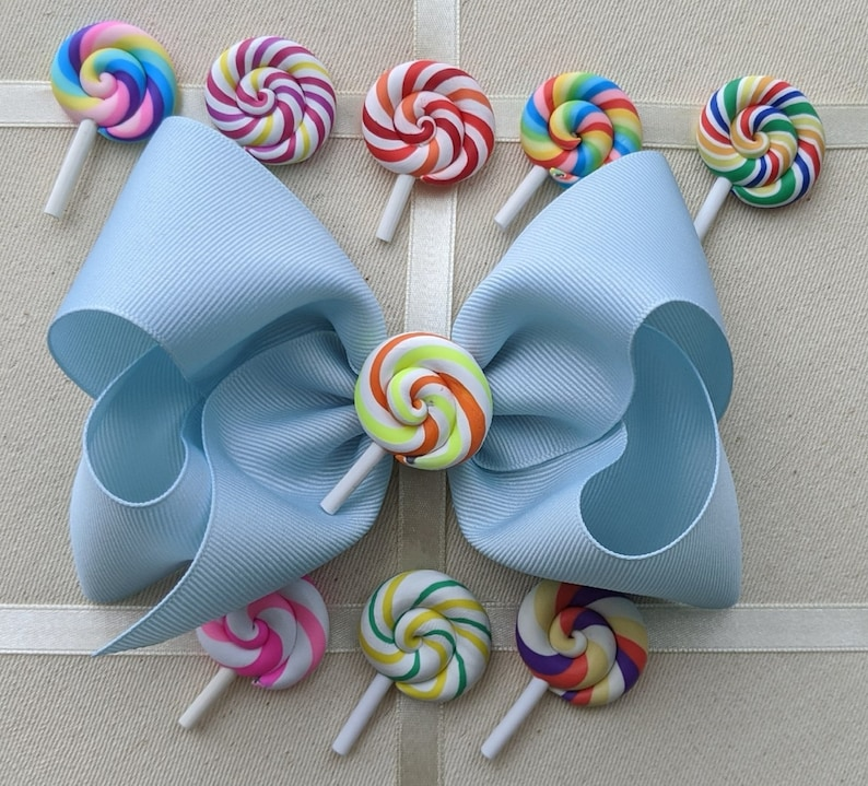 Spirit Bow Birthday Bow Cheer Bows Toddler Hair Bows Rainbow Lollipop Hair Bow Candyland Hair Bows Little Girl Bows Alligator Clip