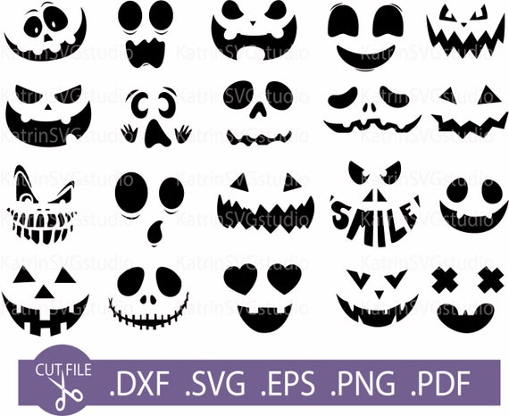 Pumpkin Face Svg Cute Jack O Lantern Halloween Svg Bundle