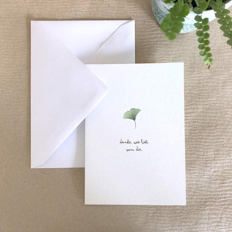 Grußkarte Danke wie lieb von dir Klappkarte Designkarte   Etsy