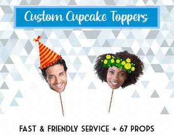 Digital file, Custom Cupcake Topper, Picture Cupcake Topper, Photo Cupcake Topper