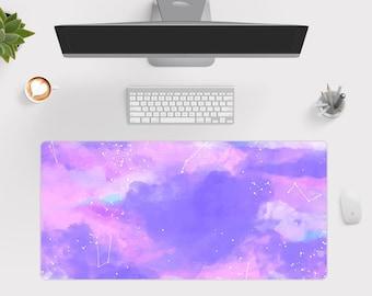 Pink Pastel Desk Mat, Kawaii Desk Pad, Cute Large Gaming Mouse Pad, Gamer Girl Desk Pad  Wallet&Heart