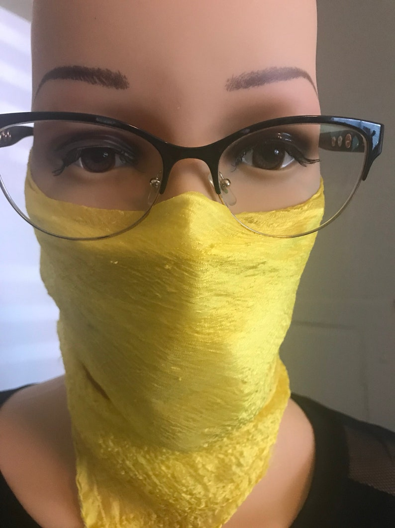 Free Mask filter with silk scarf