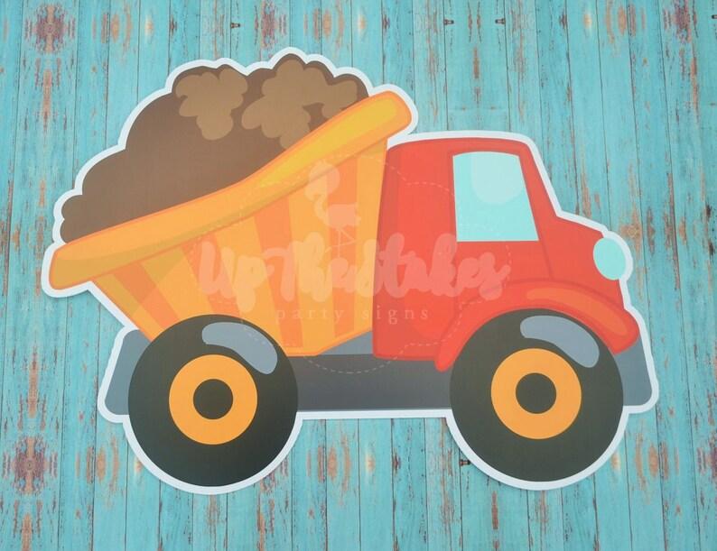 Dump Truck Construction  Birthday Graphic Yard Lawn Greeting Sign