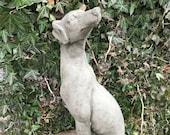 Reconstituted stone lurcher greyhound statue animal concrete garden ornament