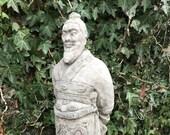 Reconstituted stone emperor statue oriental buddha concrete garden ornament Outdoor Concrete