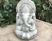 Reconstituted stone small ganesh statue oriental buddha garden ornament Outdoor Concrete