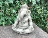 Reconstituted stone oriental ganesh statue buddha concrete garden ornament Outdoor