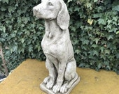 Reconstituted stone pair of hound statues antique style dog garden ornament Outdoor Concrete