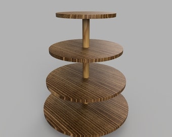 DIY Tiered Tray Cupcake Stand Build Plans - Cupcake Tower Stand - Digital PDF - 4 Tier Tray