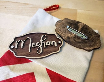 Personalized Stocking Tags - Pins - Custom Names