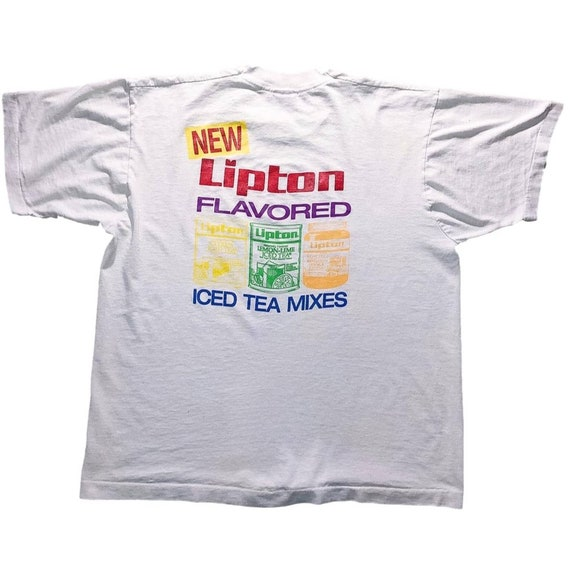 80s single stitch graphic tee - Lipton Tea