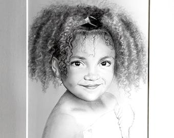 Custom portrait A4 in graphite pencil