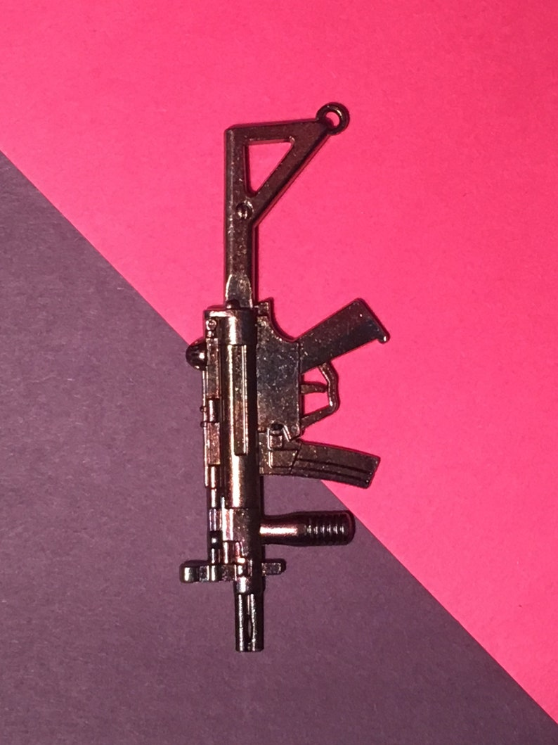 Machine Gun vintage pendant
