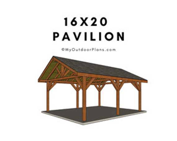 16x20 Backyard Pavilion Plans, Outdoor Pavilion Plans