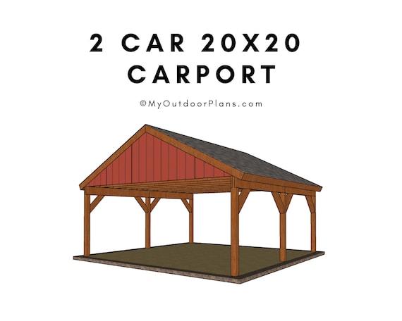 2 Car Carport Plans Etsy