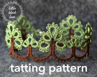 PDF Trees edging/bracelet - tatting pattern by littleblacklace - instant download