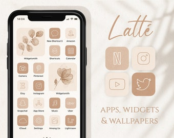 Neutral Palette App Icons, iOS 14 Icons Aesthetic, Boho iOS Icons, Cream Icon Pack, iPhone Icons Minimalist, Beige Aesthetic Home Screen