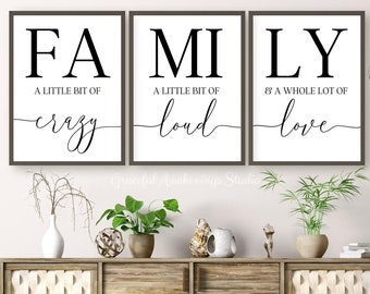 family quote wall art