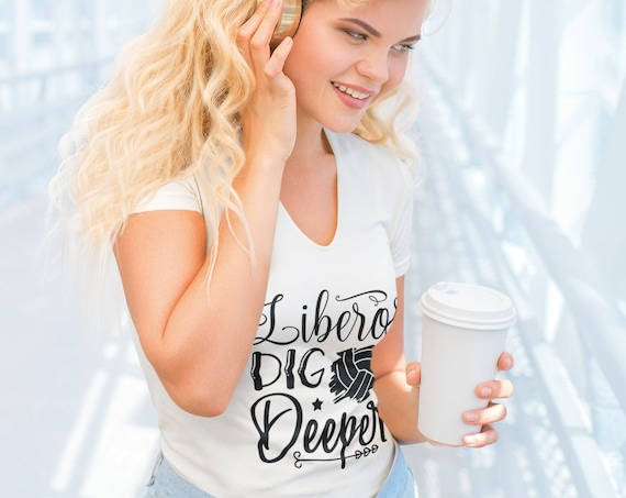 Liberos Dig Deeper Volleyball Shirt, Volleyball Tees For Women, Top Selling Woman T Shirt, Funny Volleyball Shirt, Funny Volleyball Shirts