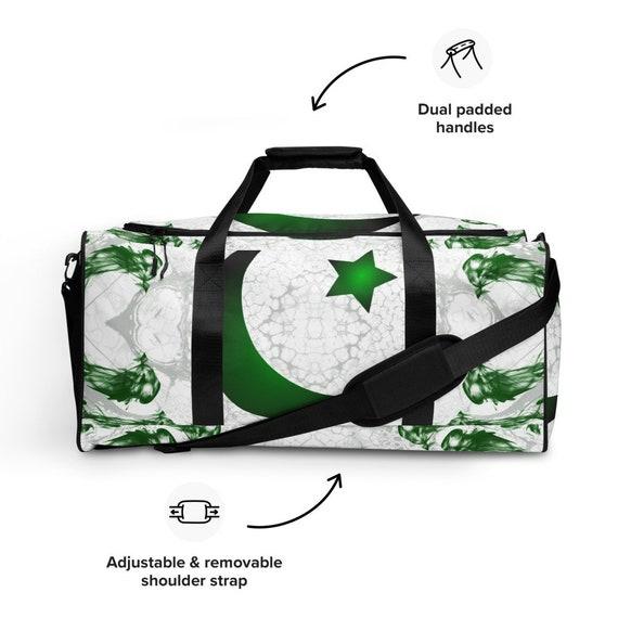 Pakistan Duffle bag, Duffel volleyball, duffel bag with shoe compartment under, duffle bag for teens, duffel bag, small green weekender bag