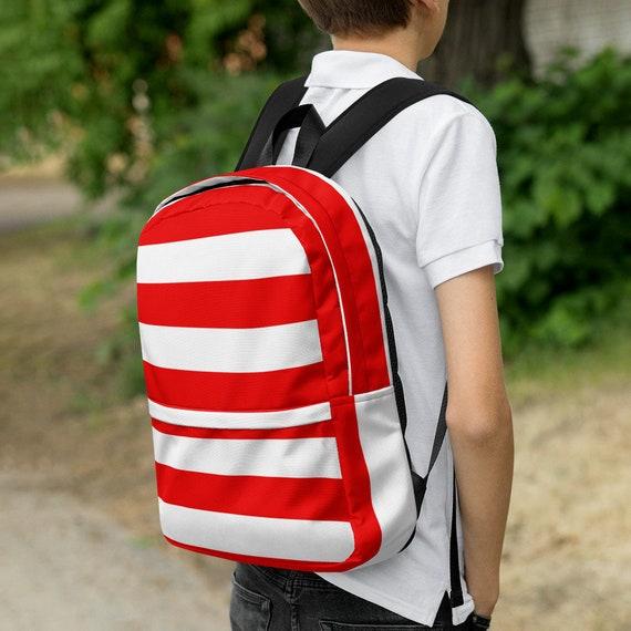 red kids backpack, waterproof backpack, rucksack, travel backpack, beach bag, small backpack, hipster backpack, weekender bag, Puerto Rico
