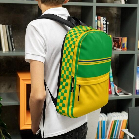Green kids backpack, waterproof backpack, rucksack, travel backpack, small backpack, hipster backpack, weekender bag, green backpack, Brasil