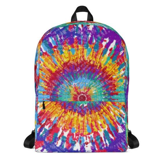 tie dye backpack, waterproof backpack, rucksack, travel backpack, beach bag, small backpack, hipster backpack, weekender bag, tye dye