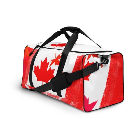 Canada Flag Duffle bag, Duffel volleyball, duffel bag with shoe compartment under, duffle bag for teens, red, duffel bag, duffle bag woman,