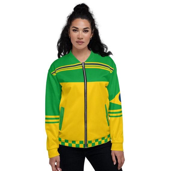 Green Tye Dye Bomber Jacket, Tie Dye Bomber jacket, Brazil bomber jacket women, Varsity Bomber Jacket Satin, Yellow Bomber Jacket,Colorblock
