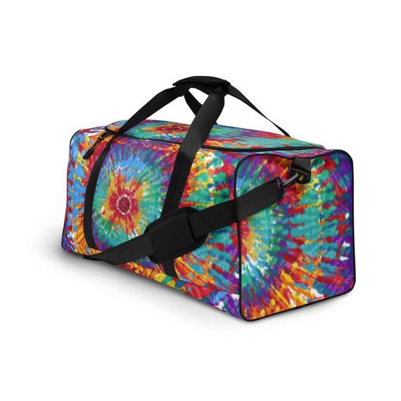 Tie Dye Duffle bag, tye dye, weekender bag, shoulder bag, gym bag, duffel bag, weekend bag, duffle bag women, tye dye, tie dye bags