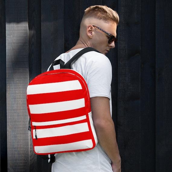 red backpack women, waterproof backpack, rucksack, travel backpack, beach bag, small backpack, hipster backpack, weekender bag, Puerto Rico