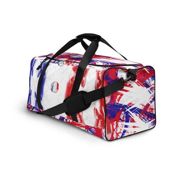 France Duffle bag, Duffel volleyball, duffel bag with shoe compartment under, duffle bag for teens, duffle bag woman, Red Weekender Bag