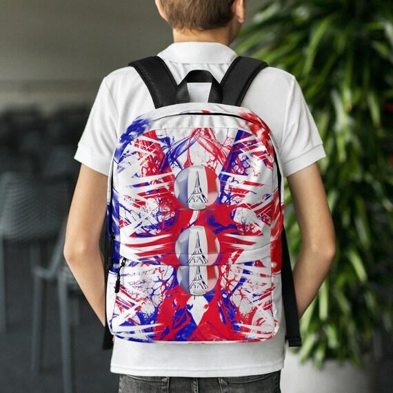 kids backpack, waterproof backpack, rucksack, tye dye, travel backpack, beach bag, small backpack, hipster backpack, weekender bag, France