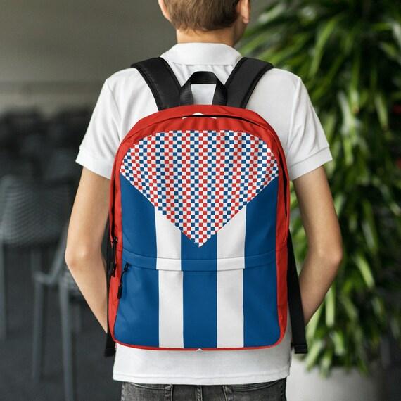 red blue backpack, waterproof backpack, rucksack, travel backpack, beach bag, kids backpack, hipster backpack, weekender bag, Puerto Rico