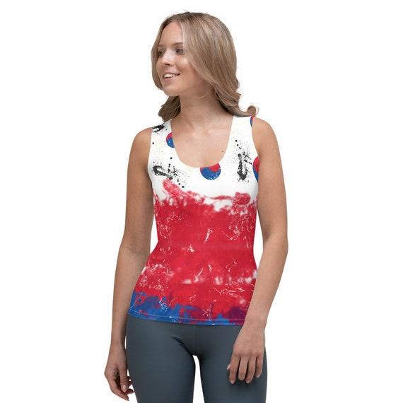 Korea Tank Tops, Korea flag Shirt, Korea Crop Shirt, Korea Flag, Korea Cute Crop Top, Korea Flag T shirt, Korea Streetwear Woman