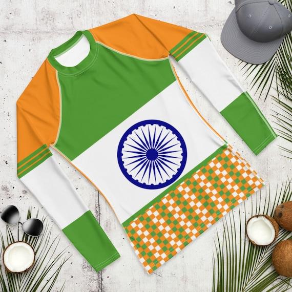Rash guard, Rashguard, Beach Cover up, Long Sleeve Swimsuit, Modest Swimwear, Swimsuit, Bathing Suit, India Flag, activewear, loungewear